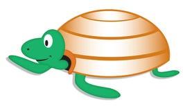 Turtle. Cartoon illustration of a turtle on a white background stock illustration
