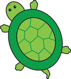 Turtle. An illustration of a green turtle Royalty Free Illustration