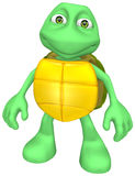 Turtle. Toon Turtle with isolation on a white background Stock Images