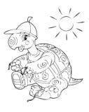 Turtle. Illustration of the amusing turtle traveller Royalty Free Stock Photo