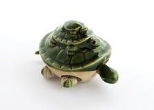 Turtle. Three porcelain turtles, isolated, white background Royalty Free Stock Images