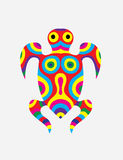 Turtle abstract colorfully Stock Photos