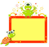 Turtle and aligator frame. A illustration of Turtle and alligator frame Royalty Free Stock Photo