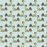 Turtle baby Cartoony character wallpaper Royalty Free Stock Image