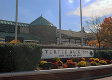 Turtle Back Zoo. Is located in West Orange, New Jersey. A Popular local zoo for families features wild animals, exhibits, petting zoo, carousel & mini-train and stock image
