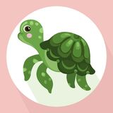 Turtle background Vector cute cartoon character Stock Photo