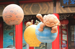 Turtle balloon. At the Chinese garden in Singapore Royalty Free Stock Image