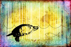 Turtle barcode animal design art idea Stock Photography