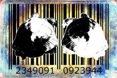 Turtle barcode animal design art idea Stock Photo