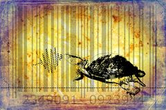 Turtle barcode animal design art idea Stock Image