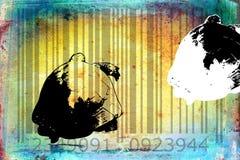 Turtle barcode animal design art idea Stock Photos