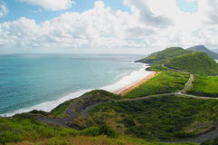 Turtle bay. In St Kitts the West Indies Stock Image