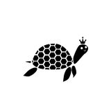 Turtle black and white. Black and white color on the king turtle Stock Images