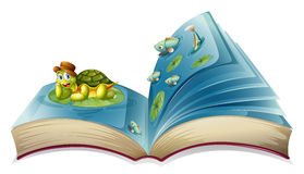 Turtle book Royalty Free Stock Image