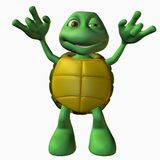 Turtle Boy -Rock On. 3D Toon Render Royalty Free Stock Images