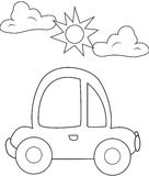 Turtle car coloring page Royalty Free Stock Image