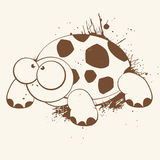 Turtle cartoon. A humorous cartoon or illustration of a turtle with exaggerated eyes Royalty Free Stock Photos