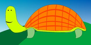 Turtle cartoon drawing Royalty Free Stock Photos