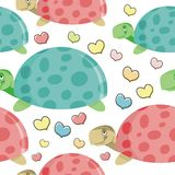 Turtle cartoon Seamless pattern design Royalty Free Stock Photo