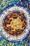Turtle colorful mosaic texture on wall. Turtlel colorful mosaic texture on the wall Royalty Free Stock Photos