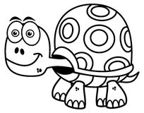 Turtle for coloring stock illustration