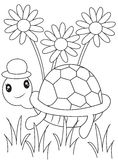 Turtle coloring page. Useful as coloring book for kids Stock Images
