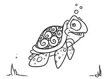 Turtle coloring pages Royalty Free Stock Photo