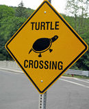 Turtle crossing sign W. Stockbridge MA Berkshires Royalty Free Stock Image