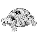 Turtle doodle  illustration Royalty Free Stock Image