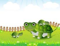 Turtle family illustration Royalty Free Stock Image