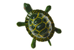 Turtle Figure. Isolated  Green Ceramic Turtle Figure Royalty Free Stock Photos