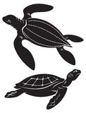 Turtle. The figure shows the turtle Royalty Free Stock Photo