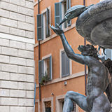Turtle fountain in Rome Royalty Free Stock Image