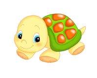 The turtle, friend of children Stock Images