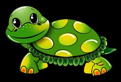 Turtle, Funny, Green Royalty Free Stock Image