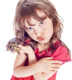 Turtle and a girl Stock Photography