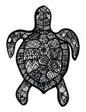 Turtle. Handdrawning abstract ornamental turtle for decoration stock illustration