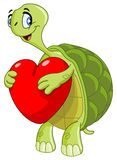 Turtle with heart Royalty Free Stock Photography