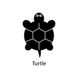 Turtle icon. Silhouette vector icon Royalty Free Stock Images