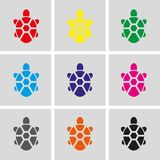 Turtle icon stock vector illustration flat design royalty free illustration