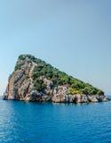 Turtle island off the coast of Antalya in the Mediterranean sea Stock Photography
