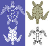 Turtle. Isolated objects. Vector illustration (EPS 10 Stock Photography
