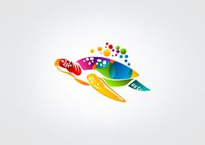 Turtle logo Royalty Free Stock Image