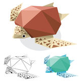 Turtle low polygon Royalty Free Stock Photos