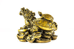 Turtle lucky statue royalty free stock image