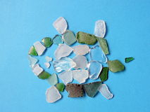 Turtle made from sea glass stock photography