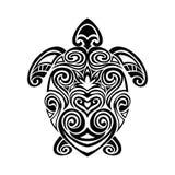 Turtle in maori tattoo style. Vector Stock Photo