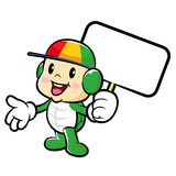 The Turtle mascot holding a board. Traffic and Road Character De Royalty Free Stock Images