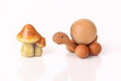 Turtle and mushroom Stock Photo