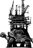 Turtle Oil Rig Stock Photo
